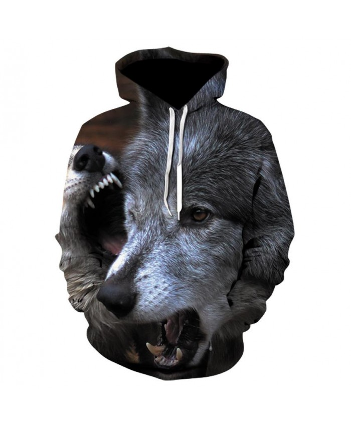 New Two Wolf Hoodie Men/Women 3D Print Hoodies Hat Tops Harajuku Hooded Pullover Casual Sweatshirts Hoody Dropship A