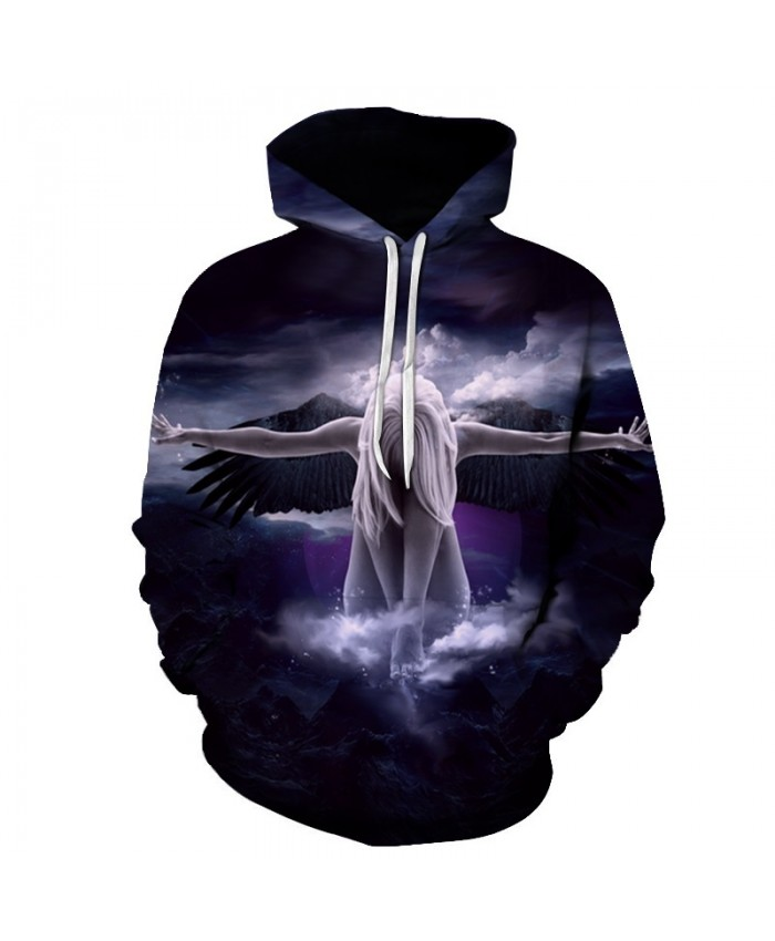 New angel Hoodies Men 3d Sweatshirt Hooded Anime Pullover Quality Brand Hoodies Harajuku Printed Fashion Tracksuit Boy Jackets A