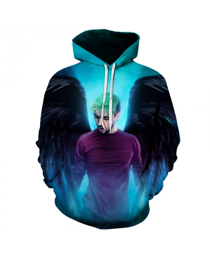 New angel Hoodies Men 3d Sweatshirt Hooded Anime Pullover Quality Brand Hoodies Harajuku Printed Fashion Tracksuit Boy Jackets B