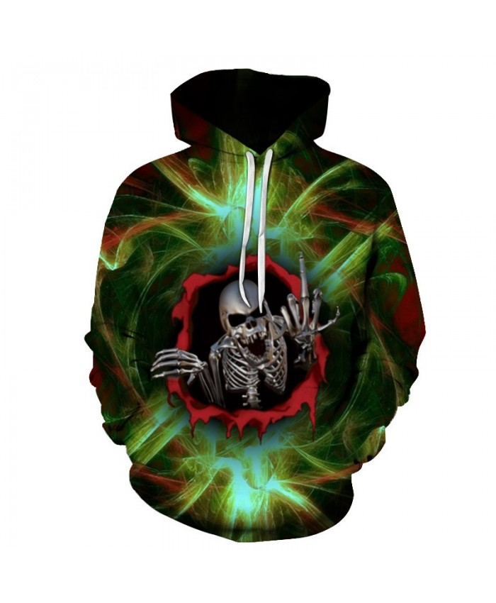 New hoody 3d green Skull Printed Hoodies Men Sweatshirts Women Funny Unisex Pullover Hooded Tracksuits Boy Jackets Brand