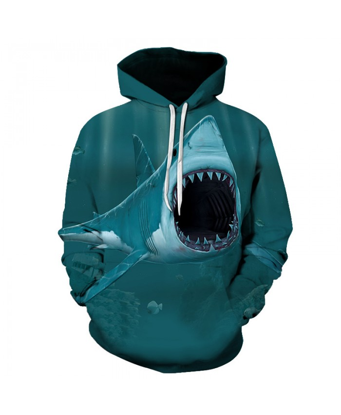 New2021 men's Cool Shark hoodie 3D printed pullovers autumn/winter casual fashion hoodie suppliers direct sales big size