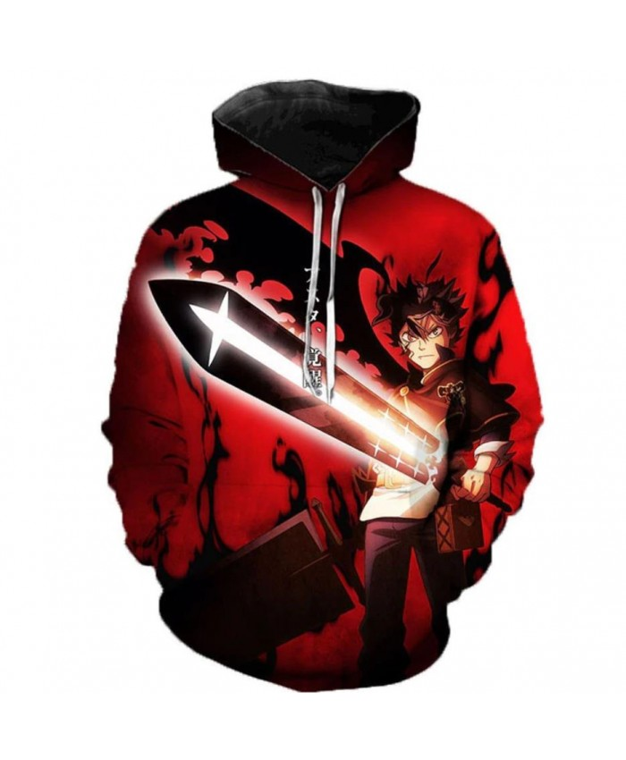 Newest Anime Black Clover 3D Hoodies Teens Fashion Cartoon Hooded Sweatshirts Spring Casual Outerwear Plus Size Coat