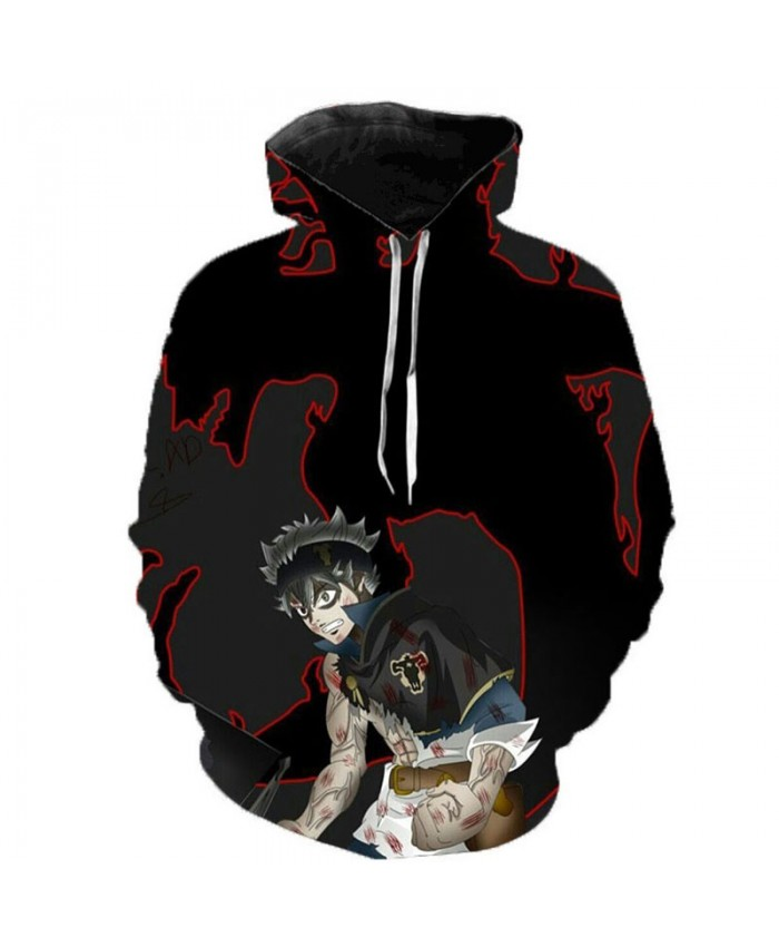 Newest Anime Black Clover 3D Hoodies Teens Fashion Cartoon Hooded Sweatshirts Spring Casual Outerwear Plus Size Coat E