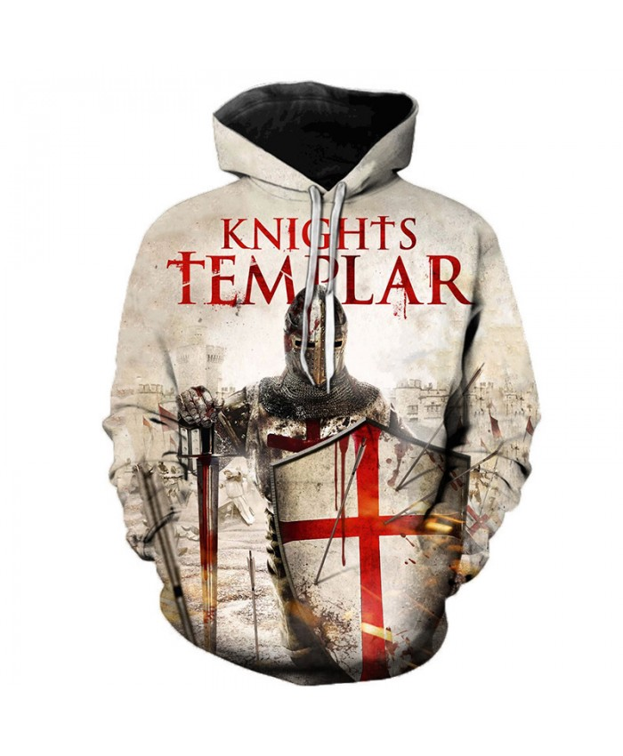 Newest Knights Templar 3D Printed Hoodies Men Women Fashion Casual Hooded Sweatshirts Streetwear Oversized Outerwear Pullovers A