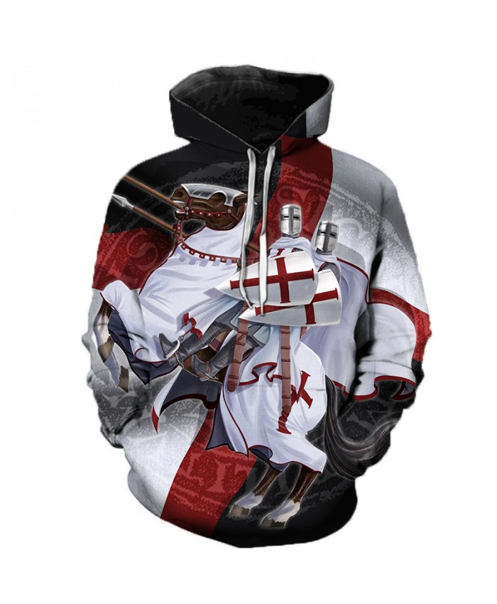 Newest Knights Templar 3D Printed Hoodies Men Women Fashion Casual Hooded Sweatshirts Streetwear Oversized Outerwear Pullovers B