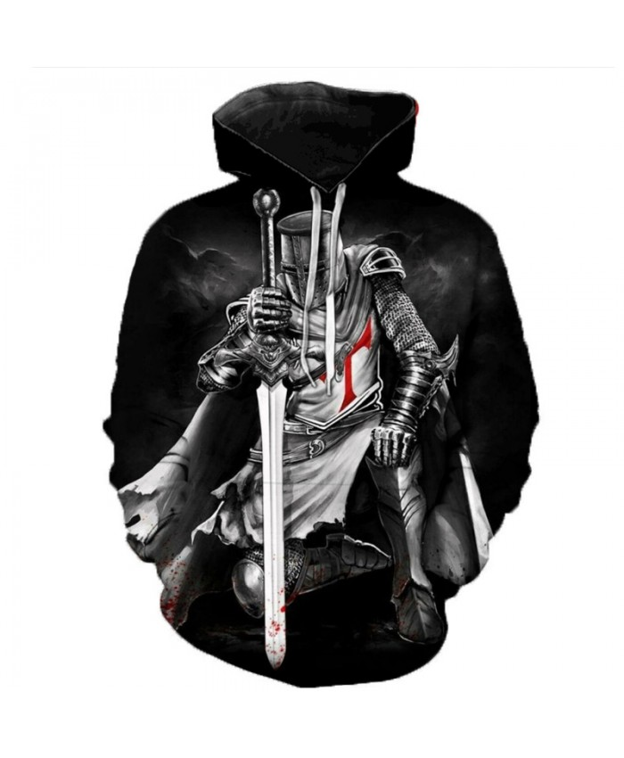 Newest Knights Templar 3D Printed Hoodies Men Women Fashion Casual Hooded Sweatshirts Streetwear Oversized Outerwear Pullovers D
