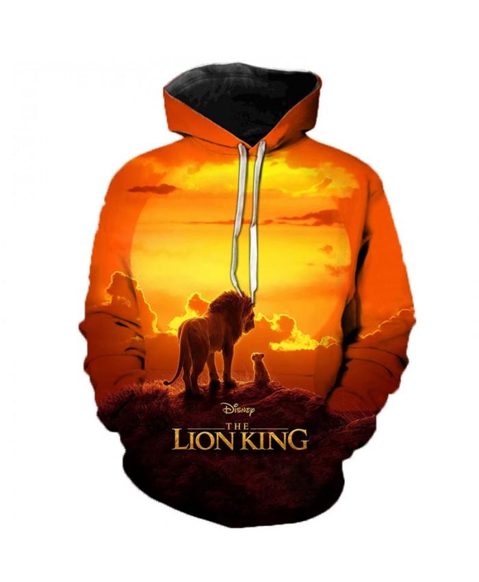 Newest Lion King 3D Printed Hooded Sweatshirts Men Women Fall Winter Streetwear Hoodies Lion King Men's Fashion Casual Pullover