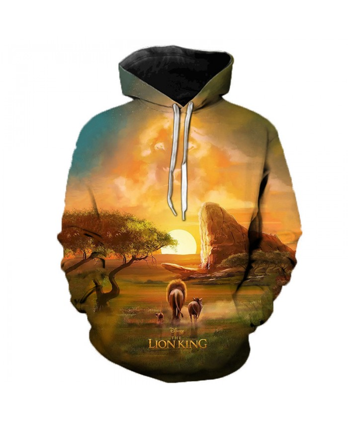 Newest Lion King 3D Printed Hooded Sweatshirts Men Women Fall Winter Streetwear Hoodies Lion King Men's Fashion Casual Pullover A