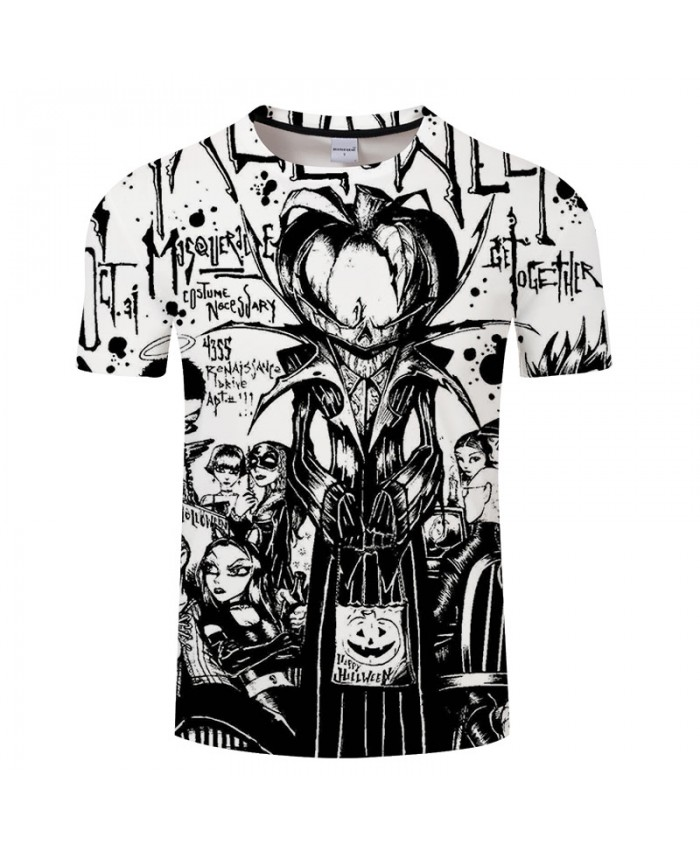 Nice Halloween 3D Print T shirts Men T-shirts Brand Tops Tee Streetwear Summer Short Sleeve tshirt O-neck Drop Ship