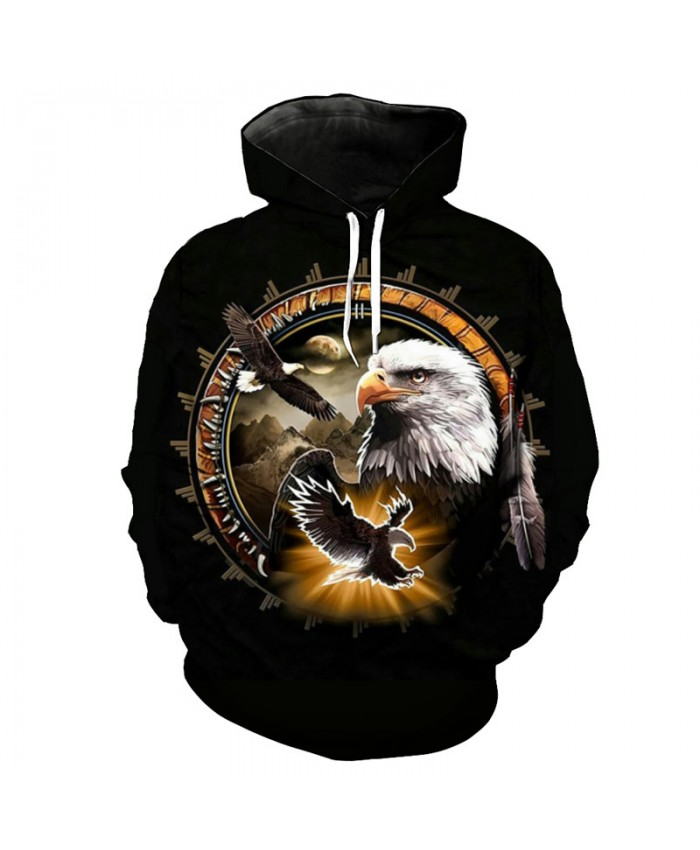 Night Eagle Sweatshirt Women Men Casual Hoodies Casual Hoodie Autumn Tracksuit Pullover Hooded Sweatshirt