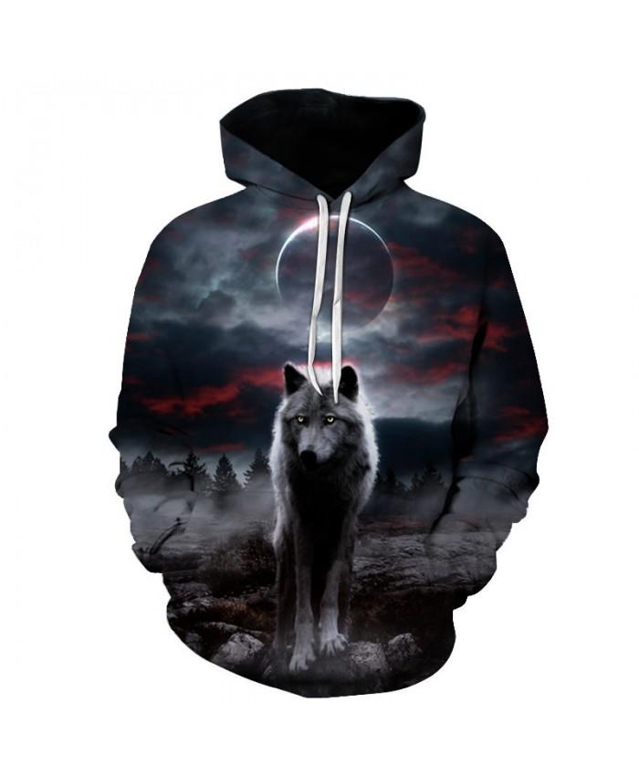 Night Space Galaxy Sweatshirts Men/women Tracksuits Tops Print Galaxy Wolf Hooded Hoodies Thin Autumn Sweatshirts Big size S-6XL