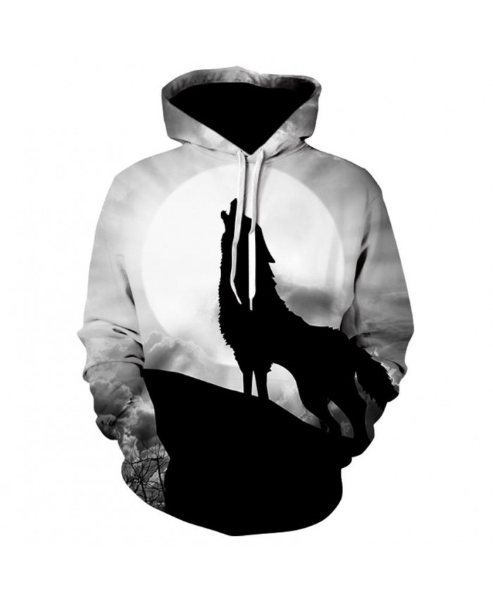 Night Wolf Hoodies Hoodie Men/Women Hip Hop Autumn Winter Hoody Tops Casual Brand 3D Wolf Hoodie Sweatshirt Dropship