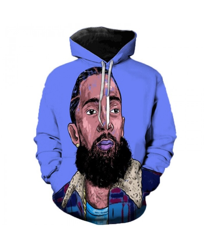 Nipsey Hussle Music 3D Printed Hoodies Men/Women Singer Hooded Sweatshirts Spring Outerwear Plus Size Unisex Polluver