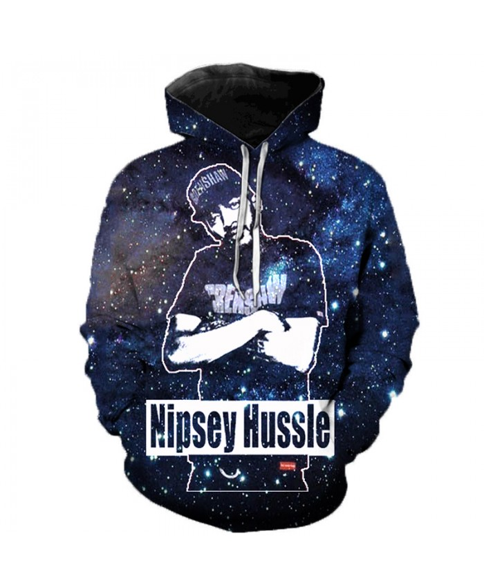 Nipsey Hussle Music 3D Printed Hoodies Men/Women Singer Hooded Sweatshirts Spring Outerwear Plus Size Unisex Polluver C