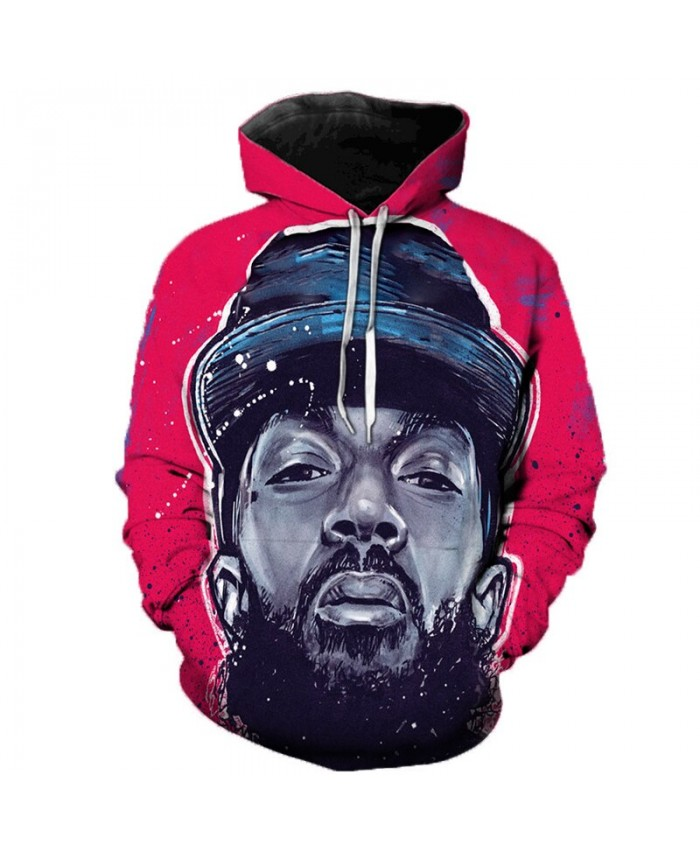 Nipsey Hussle Music 3D Printed Hoodies Men/Women Singer Hooded Sweatshirts Spring Outerwear Plus Size Unisex Polluver E