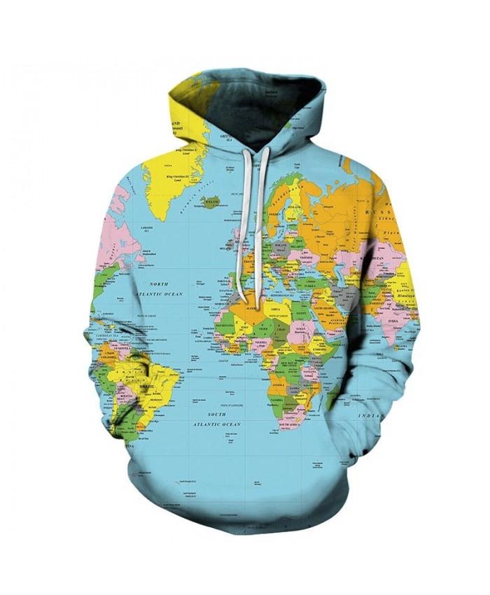 North Atlantic Map 3D Printed Men Pullover Sweatshirt Pullover Hoodie Casual Streetwear Sweatshirt Fashion Men