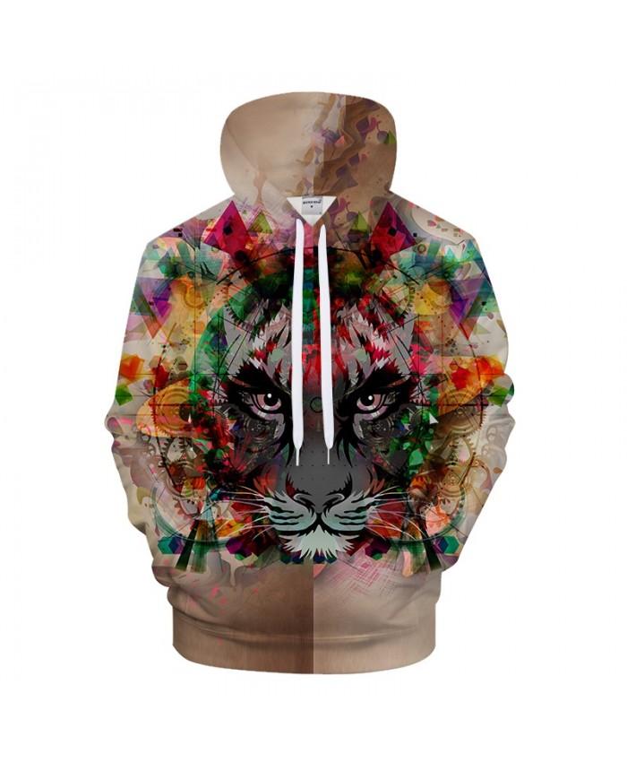 Novelty 3D Hoodies Men Printed Hoodie Tiger Sweatshirt Harajuku Tracksuit Pullover Coat Streetwear Style DropShip