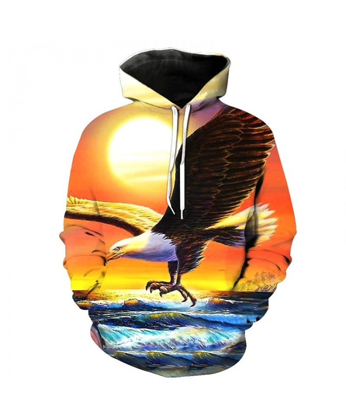 Ocean Fly Eagle Fashion Hoodies Sweatshirt Casual Hoodie Autumn Tracksuit Pullover Hooded Sweatshirt