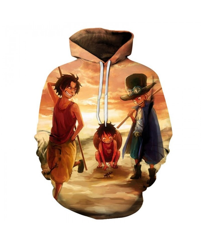 One Piece Catching Ants 3D Printed Men Pullover Sweatshirt Clothing for Men Custom Pullover Hoodie Casual Streetwear
