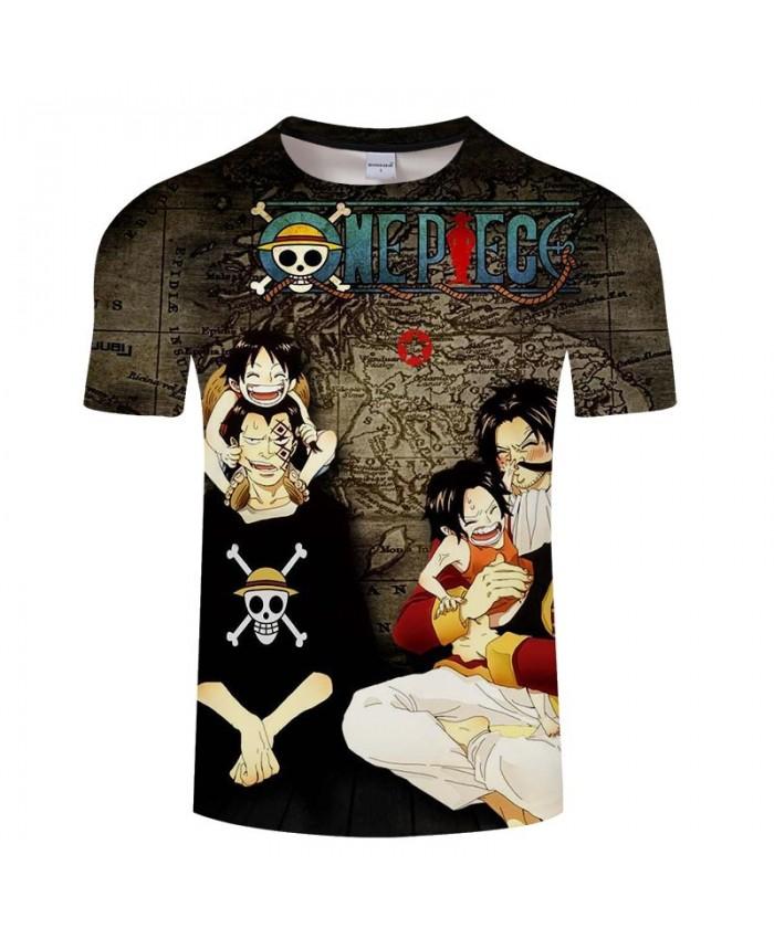 One Piece Funny Child 3D Print Men tshirt Crossfit Shirt Casual Summer Short Sleeve Male tshirt Round Neck Brand Men
