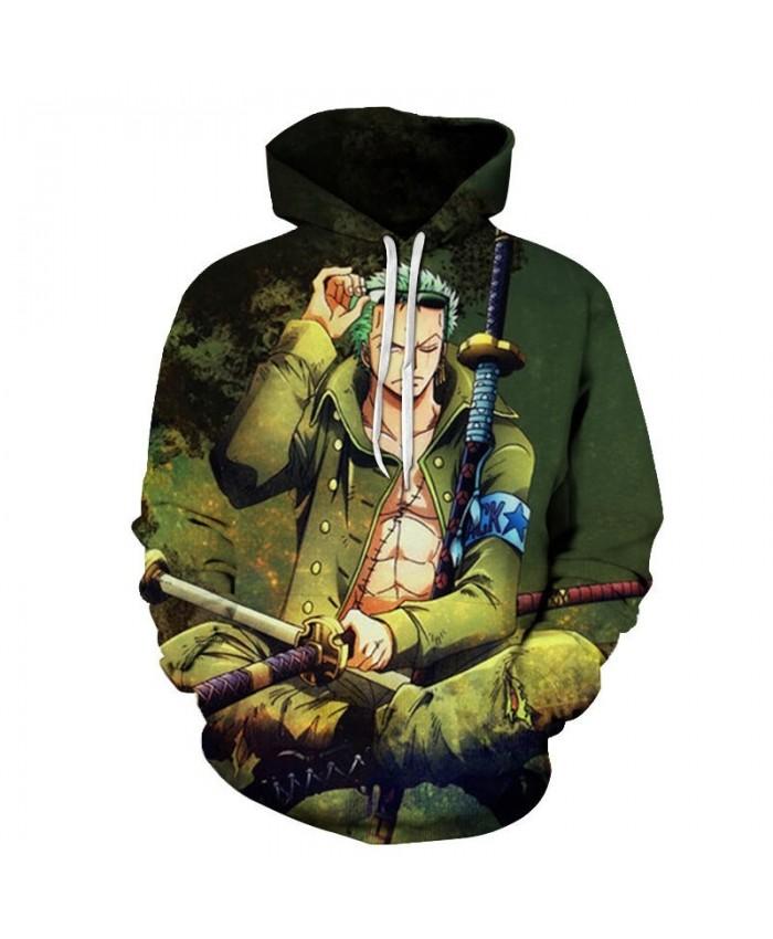 One Piece Hand Holding Glasses 3D Printed Men Pullover Sweatshirt Clothing for Men Custom Pullover Hoodie Streetwear