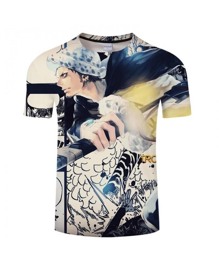 One Piece Holding A Sword 3D Print Men tshirt Crossfit Shirt Casual Summer Short Sleeve Male tshirt Fitness Men