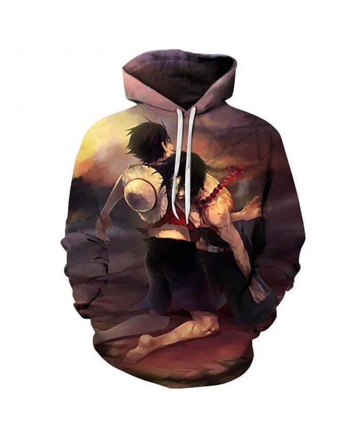 One Piece Leaning People 3D Printed Men Pullover Sweatshirt Clothing for Men Custom Pullover Hoodie Streetwear