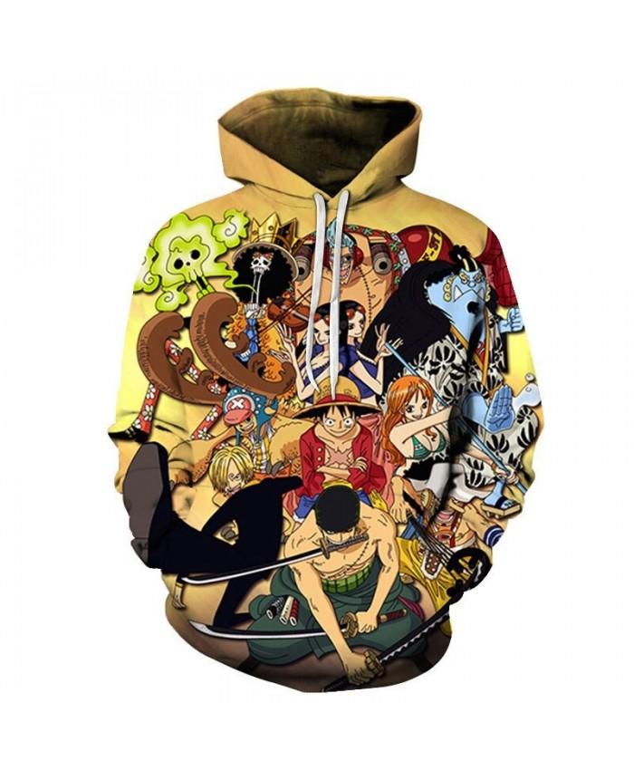 One Piece Many People Protect 3D Printed Men Pullover Sweatshirt Clothing for Men Custom Pullover Hoodie Streetwear