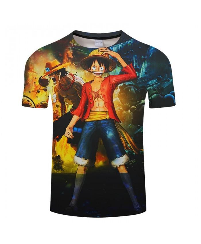 One Piece Standing In The Water 3D Printed Men tshirt Crossfit Shirt Casual Summer Short Sleeve Male tshirt Men