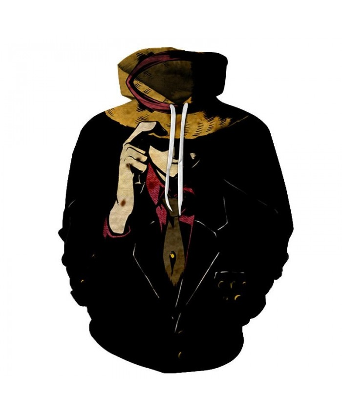 One Piece Straw Hat 3D Printed Men Pullover Sweatshirt Clothing for Men Custom Pullover Hoodie Streetwear Anime Tops