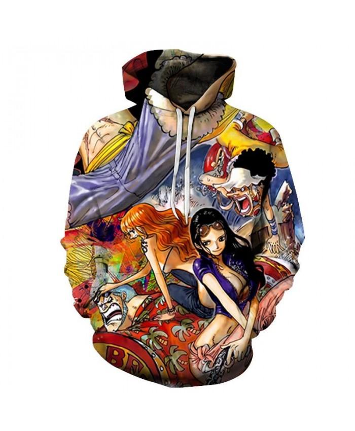 One Piece Stroking Head 3D Print Men Pullover Sweatshirt Clothing for Men Fashion Custom Pullover Hoodie Streetwear