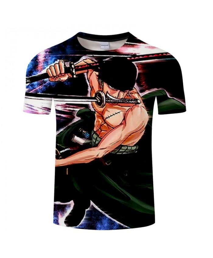 One Piece Sword On The Shoulder 3D Print Men tshirt Crossfit Shirt Casual Summer Short Sleeve Male tshirt Men O-neck