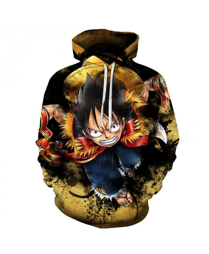 One Piece Very Angry And Punched 3D Print Men Pullover Sweatshirt Clothing for Men Custom Pullover Hoodie Streetwear