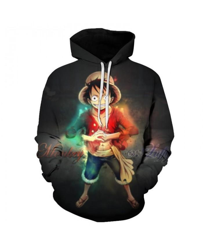 One Piece Wearing Sandals 3D Printed Men Pullover Sweatshirt Clothing for Men Custom Pullover Hoodie Streetwear