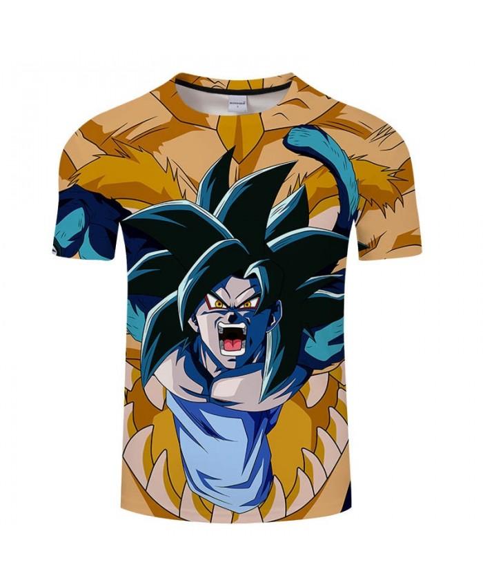 Open Mouth Cartoon Goku Dragon Ball 3D Print Men tshirt Casual Summer 2021 Hot Sell Short Sleeve Male Drop Ship