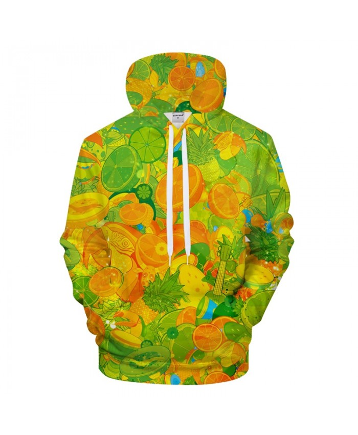 Orange Fruit Print Hoodies 3D hoodie Men Hoody Pullover Sweatshirt Harajuku Tracksuit Streetwear Coat Funny Hoodie 6xl Drop ship