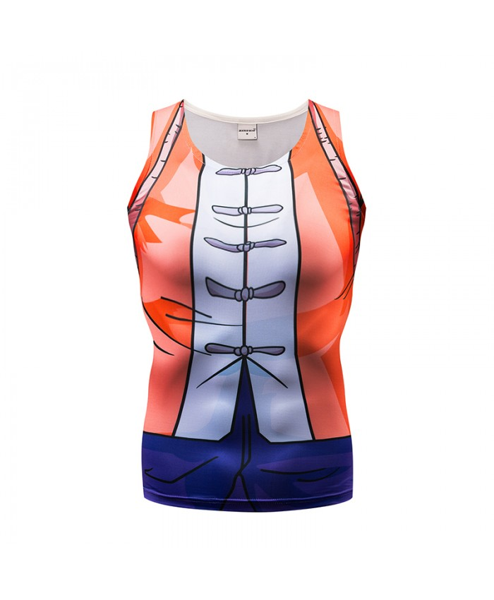 Orange Tank Tops Men Women Vest Female singlet Casual Tops&Tees Fitness Chinese Style Bodybuilding Sleeveless Summer