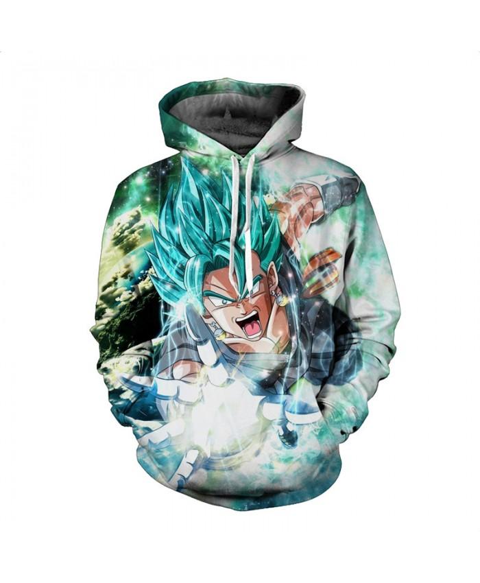 Over Size Cartoon Sweatshirt Mens 3D Hoodies Dragon Ball Hoodie Super Saiya Vegeta Kids Goku Printed Sweatshirts Hot Anime Coat