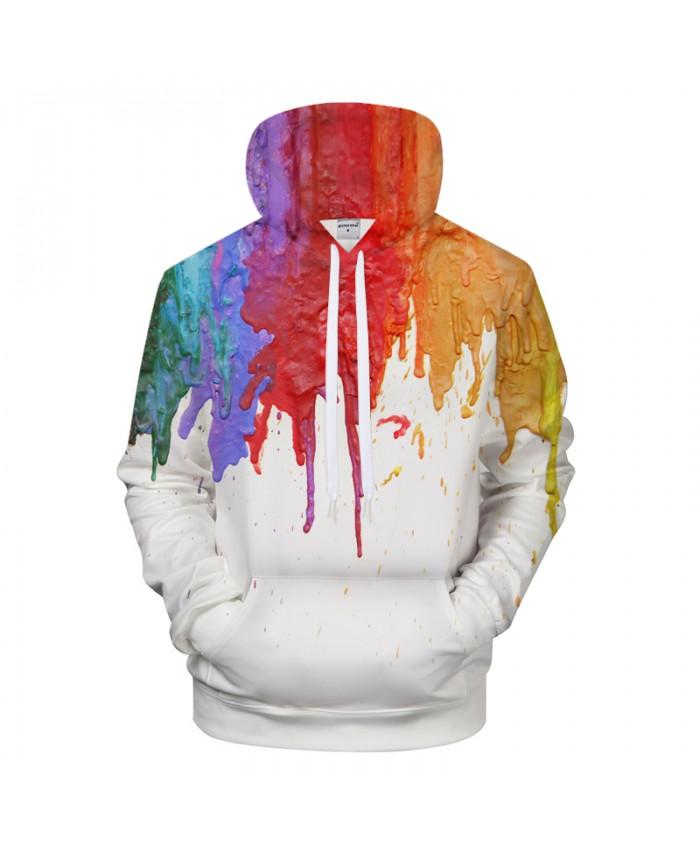 Painting 3D Hoodies Men Women Hoody White Sweatshirts Casual Tracksuit Streatwear Pullover Autumn Coat Arts Drop ship
