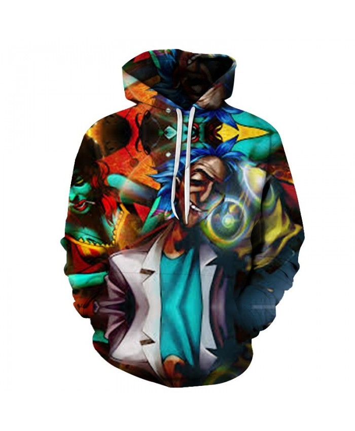 Painting Hoody Rick and Morty Hoodies Mens Sweatshirt 3D Hoodie Streatwear Pullover Autumn Tracksuit Print Drop Ship