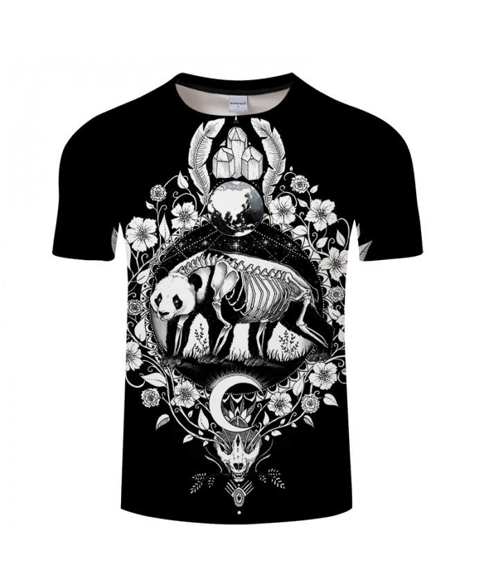 Panda black By Pixie coldArt 3D Print T shirt Men Women Summer Casual Tshirts Streetwear Short Sleeve Tops&Tees DropShip