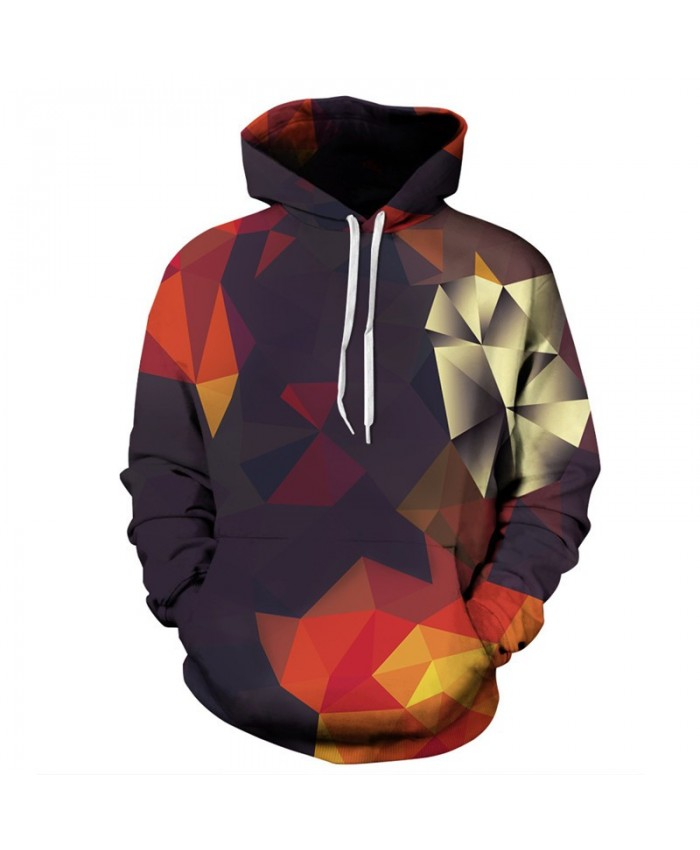 Patchwork Design 3D Printing Men Women Hoodies Fashion Hip hop Hooded Sweatshirt Pullover