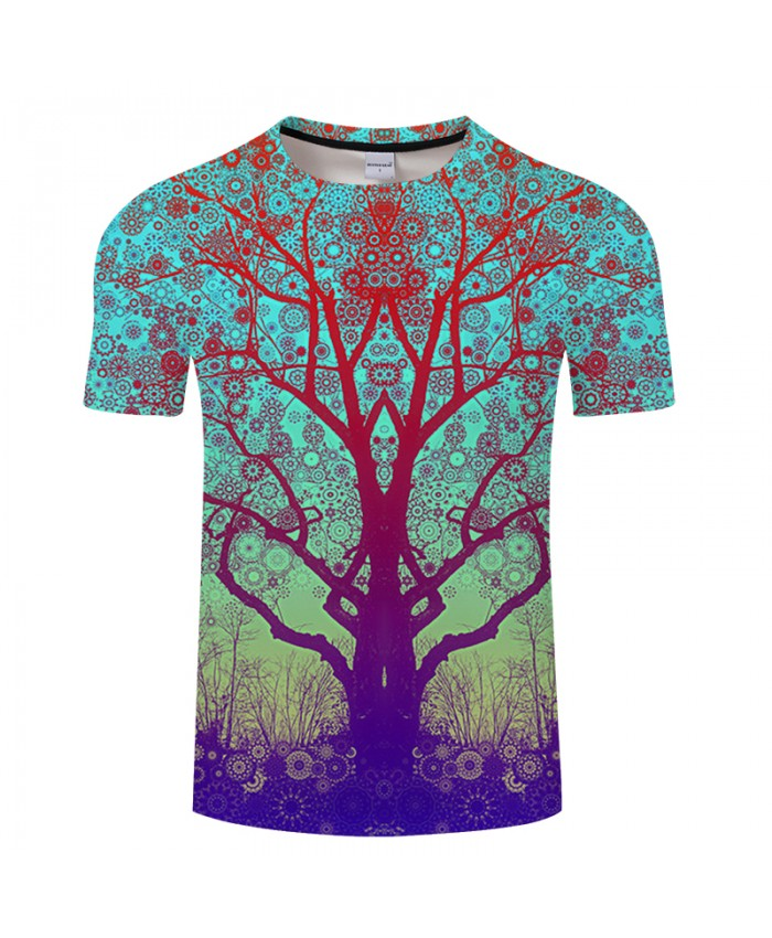 Pattern&Beautiful Forest 3D Print t shirts Men Women tshirts Summer Fashion Short Sleeve O-neck Tops&Tees Drop Ship