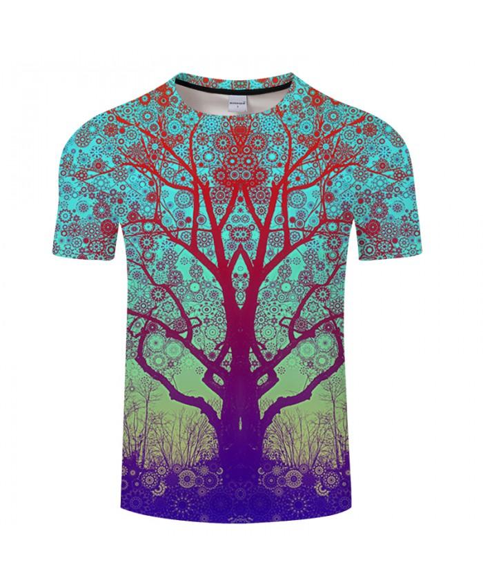 Pattern&Beautiful Forest 3D Print t shirts Men Women tshirts Summer Fashion Short Sleeve O-neck Tops&Tees Drop Ship
