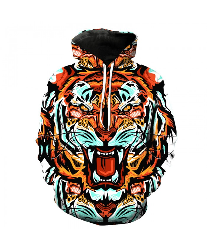 Personality Domineering Tiger Face Fashion Cool Hooded Sweatshirts Autumn Cool Pullover Casual Hoodie Autumn Tracksuit Pullover Hooded Sweatshirt