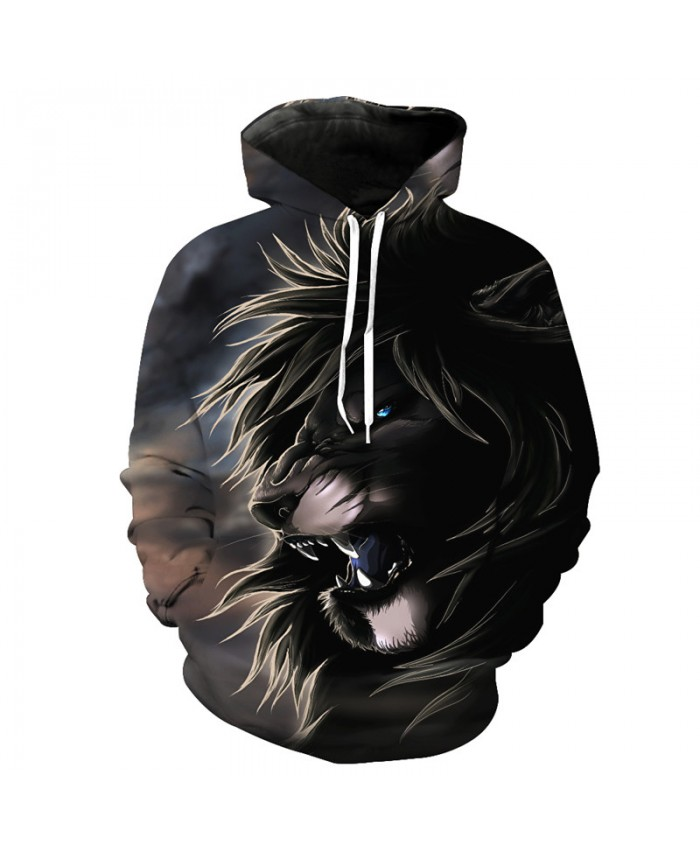 Personality Roaring Lion Hoodie Latest Autumn Fashion Hooded Pullover Casual Hoodie Autumn Tracksuit Pullover Hooded Sweatshirt