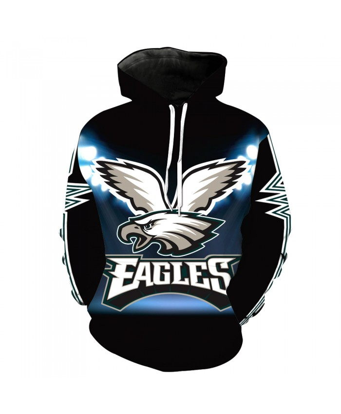 Philadelphia Eagles NFL Rugby 3D Printed Sweater Couple Sweater 3D Printed Sweatshirt Hoodie