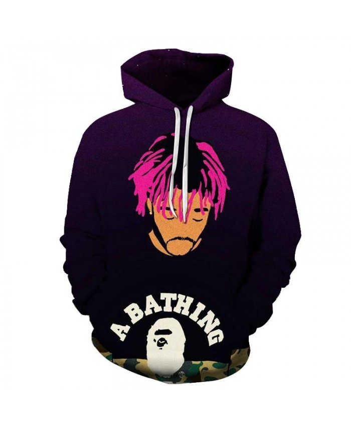 Pink Hair Mens Pullover hoodies Streetwear Sweatshirt Fashion Hoodie Long Sleeve Anime 2019 New Tops Sell Men