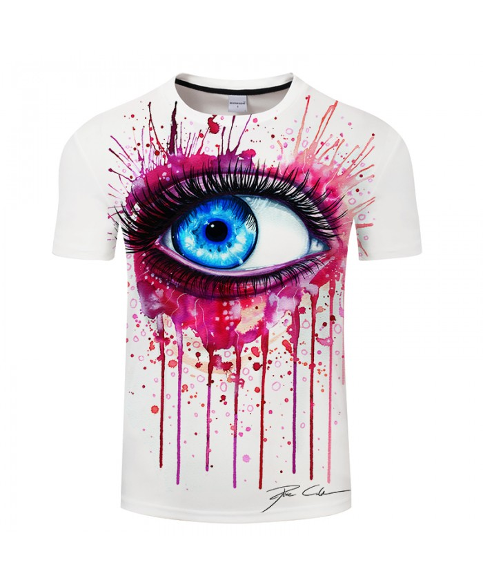 Pink by Pixie cold Art 3d Eye T shirts Men T-shirts Fashion Tops Short Sleeve Tees Round Neck T shirts Funny Camiseta