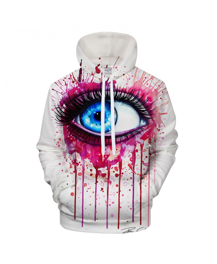 Pink by Pixie cold Art Eye Printed 3D Hoodies Sweatshirts Men Hoodies Casual Tracksuits Male Brand Pullover Jackets